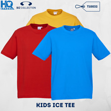 CHILDREN PREMIUM COMBED COTTON T SHIRTS KIDS ICE TEE PLAIN TOP RUNNING FB T10032