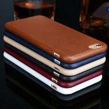 New Arrival Luxury Leather Soft TPU Case Cover Skin For Apple iPhone 7 7 Plus