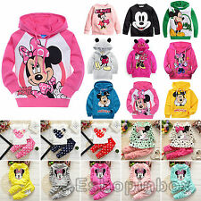 Kids Clothes Cartoon Sweatshirt Boys Girls Hooded Coat Shirt Pants Outfits Set