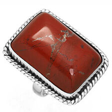 925 Solid Sterling Silver Ring Red Jasper Gemstone Latest Jewelry Size 6 cg21113