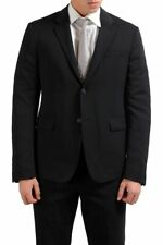 Prada Wool Black Two Button Men's Blazer Jacket Sz 38 40 42