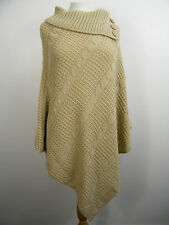 WOMEN ASYMMETRICAL CABLE KNITTED PONCHO JUMPER CAPE TOP SIZE 16/18,20/22 ,24/26