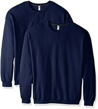 Fruit of the Loom Men's Crew Sweatshirt (2 Pack), Admiral Blue, XXX-Large