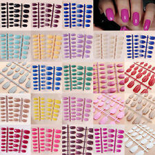 Hot French Style False Nail Tips Designer Full Fashion Acrylic 24 Pcs Nails