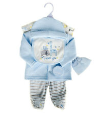 Baby Boys 6 Piece Quilted Garment Gift Set (0-6 Months)
