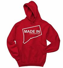 Made In Connecticut Funny Sweatshirt Home State Pride Holiday Gift Hoodie
