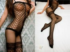 NEW Sexy Women Full Body Open Crotch Net Lingerie Tights Pantyhose Stockings