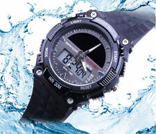 Multi-Function Cool Sports Watch LED Analog Digital Waterproof Alarm