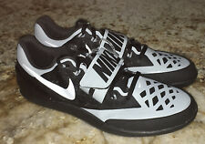 NEW Mens 10 NIKE ZOOM Rotational 6 Black Grey Throwing Field Discus Shot Shoes