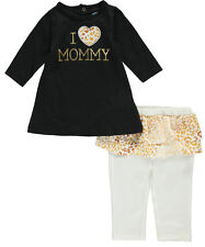 """Bon Bebe Baby Girls' """"Love 4 Mommy"""" 2-Piece Outfit"""