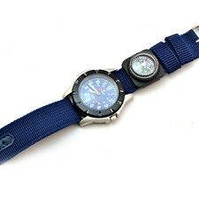 Men's Outdoor Fashion Fabric Strap Decorative Compass Sport Quartz Wrist Watch