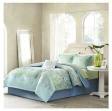 NEW Twin Full Queen Cal King Bed Blue Paisley 9pc Comforter Sheet Pillow Set NWT
