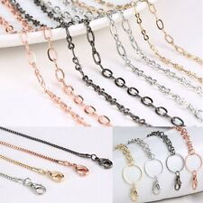 4 Styles Sweater Chain For Floating Charms Glass Locket Necklace Link Pendant
