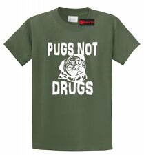 Pugs Not Drugs Funny T Shirt Puppy Dog Lover Animals Gift Tee Shirt S-5XL