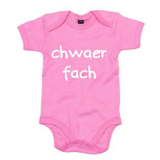 Chwaer Fach - Welsh Baby Grow (Little Sister) - LOVE GIFT 0-6 to 12-18 months