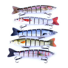1Pc Multi-jointed Minnow Fishing Lures Swimbait Bass Poppers Fishing Tackle Hook