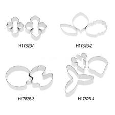 3PCS Stainless Flower Petals Cutter Mold Sugarcraft Fondant Cake Decor Tool F6P4
