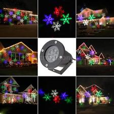 NEW Projector 4W Moving Snowflake Film Pattern Christmas Outdoor Lighting C7O0
