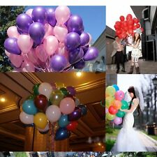 100Pcs 10 inch Colorful Pearl Latex Balloons Celebration Party Wedding Birthday