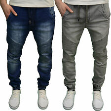 Seven Series Branded Mens Designer Cuffed Regular Fit Biker Jeans, BNWT