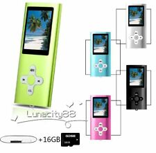 1.8 inch LCD Screen MP3 MP4 Music Video FM Voice Player + 16GB SD Card +Earphone