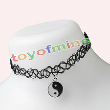 Vintage Stretch Tattoo Choker Necklace Retro Gothic Punk Elastic 80s 90s
