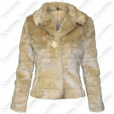 NEW LADIES WOMENS FAUX FUR LAYER CROP COATS LOOK LINED WARM WINTER JACKETS COAT