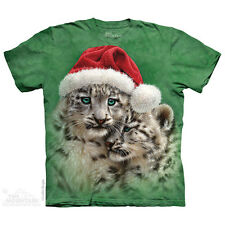 The Mountain Playmates Christmas Cap Snow Leopard Holiday Winter T Shirt 108622