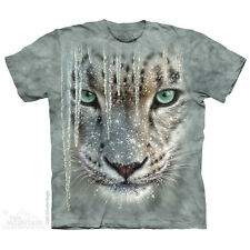 The Mountain Icicle Snow Leopard Winter Ice Frozen Big Face Mens T Shirt 103822