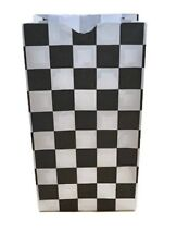 Paper Party Favor Treat Bags (S) - Checkered Black & White