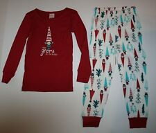 NEW Gymboree Outlet Girl Holiday Gnome Pajamas PJs size 3 4 5 6 7 8 10 12