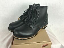 NEW REDWING HERITAGE BECKMAN 9014 ROUND TOE BLACK FEATHERSTONE BOOT MEN LEATHER