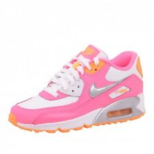 Air Max 90 2007 (GS) Textile Shoes trainers White Pink Orange 345017 120