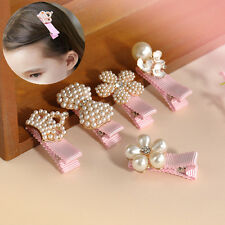 1Pc Fashion Girl Princess Crystal Pearl Flower Crown Hair Clip Hairpins Jewelry