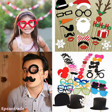 Photo DIY Booth Props Lips Sticker Mustache Wedding Birthday Christmas Party