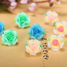 Wholesale! 100/200pcs Mixed Polymer Fimo Clay Flower Spacer Loose Beads 15mm