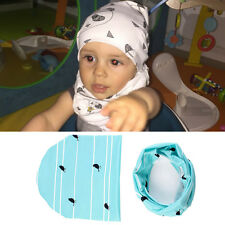 Soft Hat Cap+Bib Towel Head Scarf New Fashion 1 Set Infant Kids Baby Boys Girls