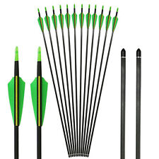 Hunting Archery 32'' Carbon Arrows for Compound & Recurve Bow With Screw Point