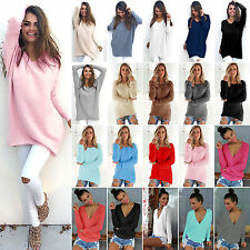 New Womens Long Sleeve Oversized Baggy Sweater Pullover Jumper Tops Shirt Blouse