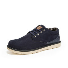 3 Colors New Fashion Suede Leather Mens Casual Lace Up Oxford Shoes EU 39-44