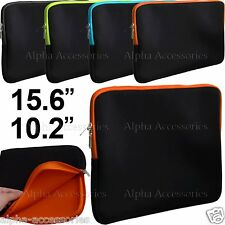 "Laptop Sleeve Table Case Notebook Bag Netbook Cover Neoprene Slip 15.6"" & 10.2"""