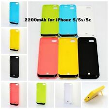 2200mAh EXTERNAL BATTERY BACKUP CHARGER POWER  CASE FOR IPHONE 5, 5C, 5S , SE