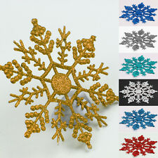 12 Pcs Hanging Home Decoration Glitter Snowflake Xmas Tree Christmas Ornaments