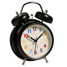 Alarm Clock, Twin Bell with Light, Metal