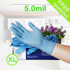 Nitrile Disposable Gloves Powder Free 5mil Thick Tear Resistant Non Latex XLarge