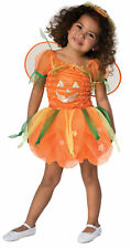 Pumpkin Pie Infant Baby Girls Dress With Wings Halloween Costume Rubies