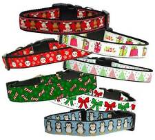 CHRISTMAS Designs Dog or Cat Collars * 23 Styles * Cute Puppy Kitty Holiday Wear