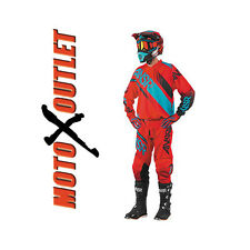 Red Teal 2017 Dirt Bike Answer Syncron Racing Gear Pants Jersey MX Off Road Atv