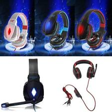 For KOTION Stereo Gaming Headphone Headset w/ Mic Volume Control for PC Game GD