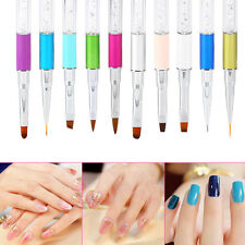 Nail Drawing Kit Manicure Acrylic Brush 3D Liner UV Gel Painting Pen Tool DY